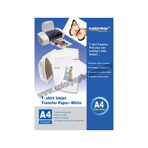 5 A4 WHITE TRANSFER T-SHIRT PAPER